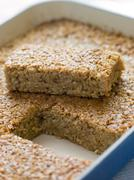 Flapjack in a Baking Dish Stock Photos