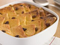 Bread and Butter Pudding in a Dish Stock Photos