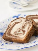 Chocolate Marble Maderia cake - stock photo