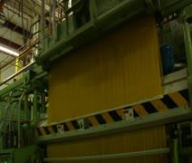 Enormous spaghetti making machine Stock Footage