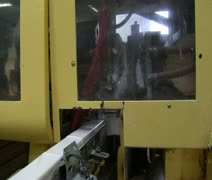 Machine presses bars of soap Stock Footage