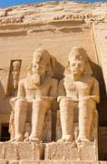 Statues of Ramesses II at Abu Simbel, Egypt Stock Photos