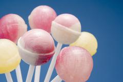 Selection of Candy Lollipops Stock Photos