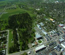 Aerial shot of Bozeman, Montana Stock Footage