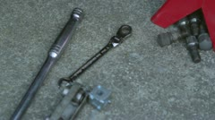 Mechanics Tools On The Ground - stock footage