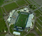 Stock Video Footage of Montana State University and Bobcat Stadium