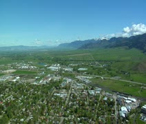 Aerial shot of Bozeman Montana Stock Footage