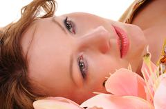 sensuality glance - stock photo