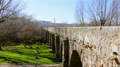 Salamanca Roman Bridge Stock Footage