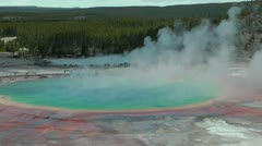 Grand Prismatic Spring Stock Footage