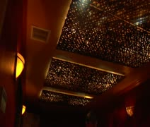Wide shot of couples massage Stock Footage