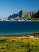 Coastal landscape of Lofoten islands Stock Photos