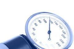 medical manometer closeup - stock photo