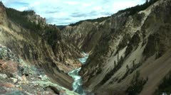 Grand Canyon of Yellowstone time-lapse Stock Footage