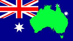 The map on the flag of australia Stock Illustration