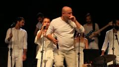 Vedat YILDIRIM singing Turkish folk song Oi Oi! iki ayak horon, Rize Region Stock Footage