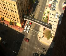 Time lapse of traffic seen from above Stock Footage