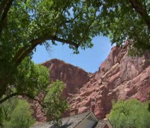 Old Ranger station Arches national Park Utah Stock Footage
