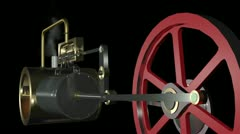 Steam Engine Animation HD Stock Footage