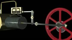 Steam Engine Animation loop HD - stock footage