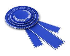 Blue award ribbon Stock Illustration