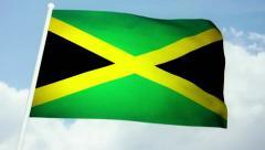 Flag Jamaica 03 Stock Footage