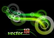 Green rays Stock Illustration