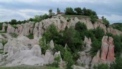Stone wedding rock formation in Rhodopes Stock Footage