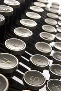 Close Up Of Old Fashioned Typewriter Keys Stock Photos