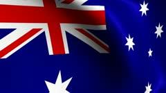 Stock Video Footage of Rippling Australian Flag Loop