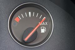 Fuel Gauge Reading Full - stock photo