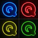 Neon sign letter q Stock Illustration