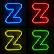 neon sign letter z - stock illustration