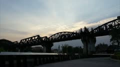 Sunset At The Bridge of the River Kwai Stock Footage