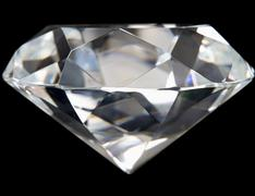 Close-Up Of Flawless Diamond Stock Photos