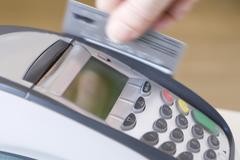 Swiping Credit Card Stock Photos