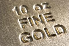 Close-Up Of Gold Bar Stock Photos