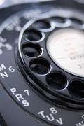 Close Up Of Old-Fashioned Telephone Stock Photos