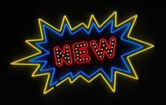 New neon sign Stock Illustration