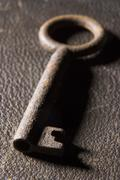 Close-Up Of Old-Fashioned Key Stock Photos