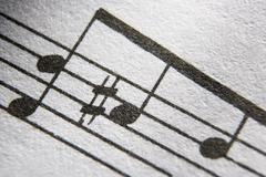 Close-Up Musical Notes Stock Photos