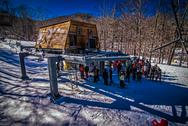 At the ski resort Stock Photos
