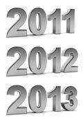 Upcoming years 2012 Stock Illustration