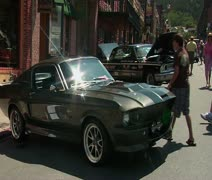 Mustang car show Stock Footage