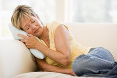 Woman Feeling Unwell - stock photo