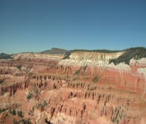 Tilt down shot at Cedar breaks national Monument Stock Footage