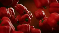 Falling peppers slow motion health diet vitamines - stock footage