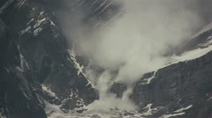 Avalanche in the mountains - stock footage
