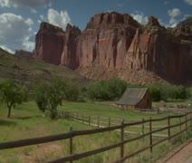 Old homestead in southern Utah Stock Footage