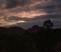 Sunset timelapse in Capitol reef national Park Stock Footage